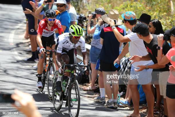 20th Santos Tour Down Under 2018 / Stage 5 Nickolas DLAMINI Polka Dot Mountain Jersey / Thomas DE GENDT / Main Road McLaren Vale Brookman Road...