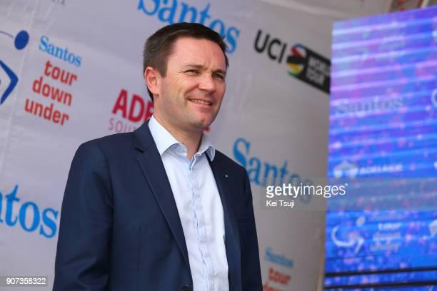 20th Santos Tour Down Under 2018 / Stage 5 Podium / David LAPPARTIENT UCI President / Main Road McLaren Vale Brookman Road Willunga Hill 382m / Men /...
