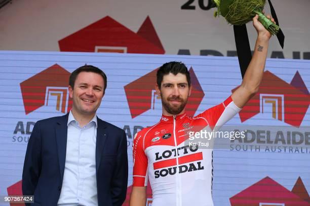 20th Santos Tour Down Under 2018 / Stage 5 Podium / David LAPPARTIENT UCI President / Thomas DE GENDT / Most Competitive Rider / Celebration / Main...