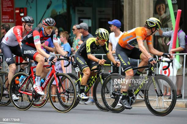 20th Santos Tour Down Under 2018 / Stage 6 Caleb EWAN / Daryl IMPEY Orange Leader Jersey / Rohan DENNIS / King William Street Adelaide King William...