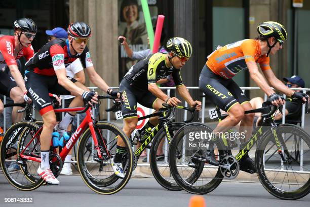 20th Santos Tour Down Under 2018 / Stage 6 Daryl IMPEY Orange Leader Jersey / Caleb EWAN / Rohan DENNIS / King William Street Adelaide King William...