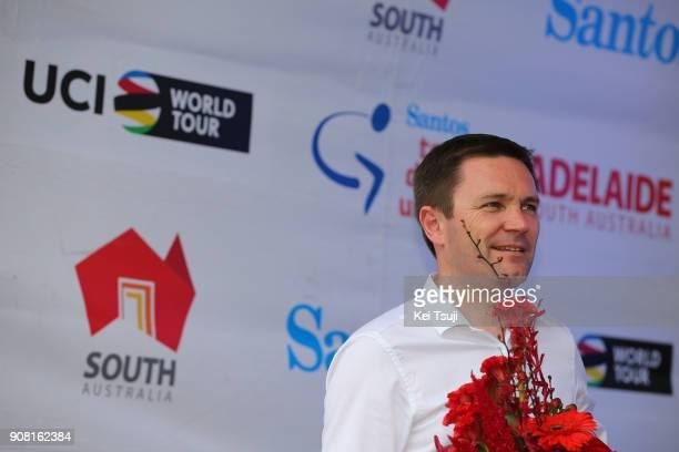 20th Santos Tour Down Under 2018 / Stage 6 Podium / David LAPPARTIENT UCI President / King William Street Adelaide King William Street Adelaide / Men...