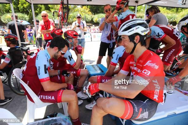 20th Santos Tour Down Under 2018 / Stage 6 Start / Nathan HAAS / Fumiyuki BEPPU / King William Street Adelaide King William Street Adelaide / Men /...