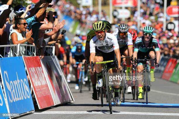 20th Santos Tour Down Under 2018 / Stage Arrival / Sprint / Caleb EWAN White Best Young Rider Jersey Celebration / Daryl IMPEY / Jay MCCARTHY / Peter...