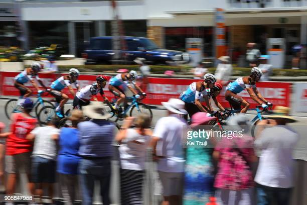 20th Santos Tour Down Under 2018 / Stage Team AG2R La Mondiale / Peloton / Fans / Public / City / King William Road Unley Mount Barker Road Stirling...