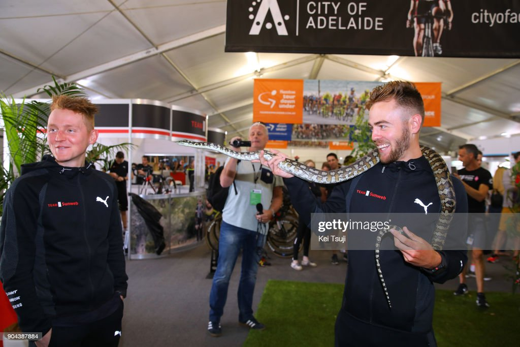 20th Santos Tour Down Under 2018 / Team Presentation Chris HAMILTON (AUS)/ Sam OOMEN (NED)/ Snake / Adelaide Tour Village / Team Presentation / TDU /