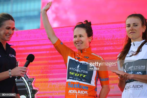 20th Santos Tour Down Under 2018 / Team Presentation Katrin GARFOOT Orange Leader Jersey / Adelaide Tour Village / Women / Team Presentation / TDU /