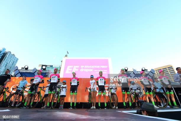 20th Santos Tour Down Under 2018 / Team Presentation Team EF Education FirstDrapac p/b Cannondale / Simon CLARKE / Brendan CANTY / Thomas SCULLY /...