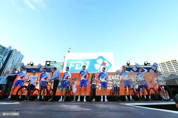 20th Santos Tour Down Under 2018 / Team Presentation Team FDJ / Steve MORABITO / Antoine DUCHESNE / Daniel HOELGAARD / Anthony ROUX / Georg PREIDLER...