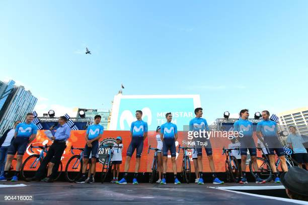 20th Santos Tour Down Under 2018 / Team Presentation Team Movistar / Carlos BARBERO / Nuno BICO MATOS / Marc SOLER / Ruben FERNANDEZ / Jaime...