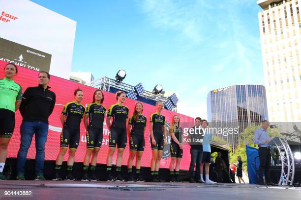 20th Santos Tour Down Under 2018 / Team Presentation Team MitcheltonScott / Amanda SPRATT / Annemiek VAN VLEUTEN / Sarah ROY / Jessica ALLEN / Lucy...