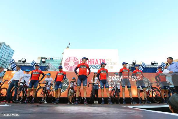 20th Santos Tour Down Under 2018 / Team Presentation Team Bahrain Merida Pro Cycling / Domenico POZZOVIVO / Ion IZAGIRRE / Gorka IZAGIRRE / Manuele...