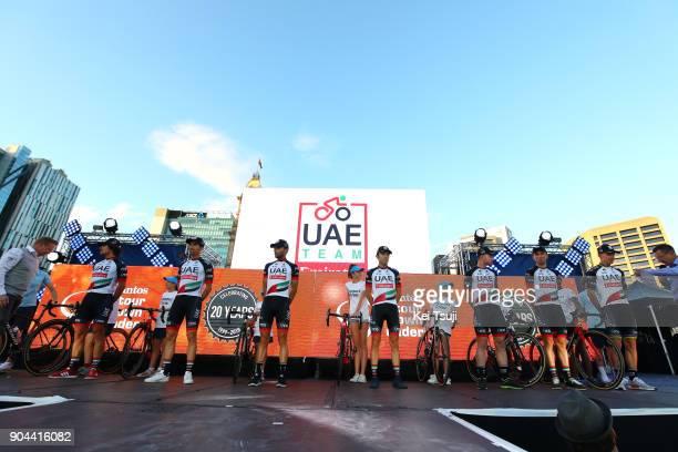 20th Santos Tour Down Under 2018 / Team Presentation Team UAETeam Emirates / Rui COSTA / Diego ULISSI / Simone CONSONNI / Manuele MORI / Matteo BONO...