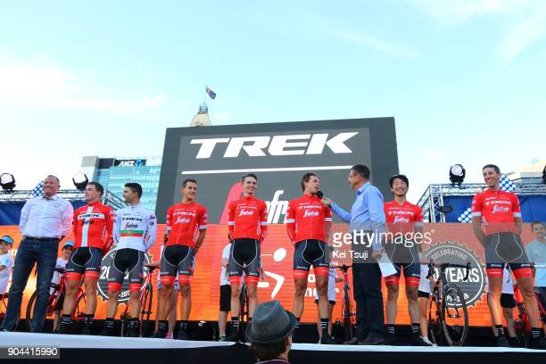 20th Santos Tour Down Under 2018 / Team Presentation Team Trek Segafredo / Laurent DIDIER / Fumiyuki BEPPU / Koen DE KORT / Niklas EG / Alex FRAME /...