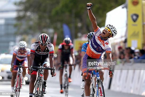 20th Tour Langkawi 2015/ Stage 5 Arrival/ NOVARDIANTO Jamalidin Celebration Joie Vreugde/ OTHMAN Muhamad Adiq Husainie / Kuala Terengganu Kuantan /...