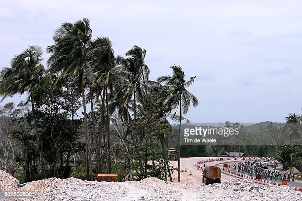 20th Tour Langkawi 2015/ Stage 5 Illustration Illustratie/ Peloton Peleton/ Landscape Paysage/ Palms/ Wind/ Kuala Terengganu Kuantan / Ronde etape...