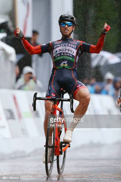 26Th Japan Cup 2017 Cycle Road Race 2017 Arrival, Sprint, Marco Canola Celebration, Utsunomiya - Utsunomiya / Race Shortened Due To Bad Weather,...
