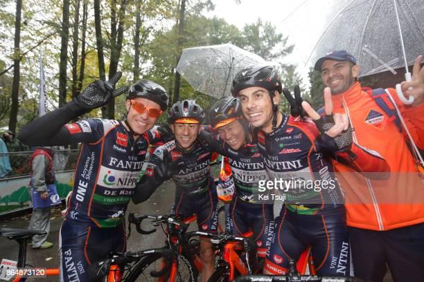 26th Japan Cup 2017 Cycle Road Race 2017 Arrival / Team NIPPO Vini Fantini / Damiano CUNEGO / Marco CANOLA / Ivan SANTAROMITA / Hideto NAKANE /...