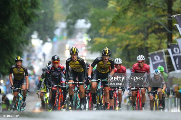 26th Japan Cup 2017 Cycle Road Race 2017 Peloton / Koen DE KORT / Enrico BATTAGLIN / Alexey VERMEULEN / Juan Jose LOBATO DEL VALLE / Hideto NAKANE /...