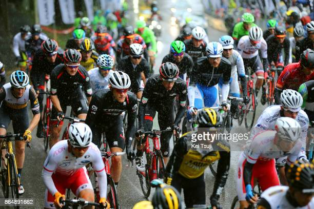 26th Japan Cup 2017 Cycle Road Race 2017 Peloton / Martin ELMIGER / Jasper STUYVEN / Utsunomiya Utsunomiya / Race shortened due to bad weather /...
