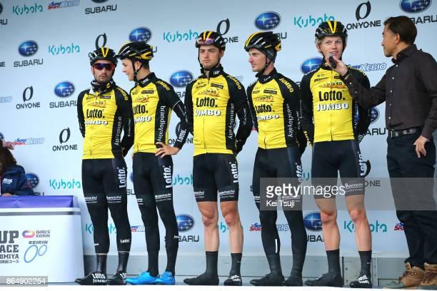 26th Japan Cup 2017 Cycle Road Race 2017 Start / Team Lotto NL Jumbo / Enrico BATTAGLIN / Koen BOUWMAN / Alexey VERMEULEN / Juan Jose LOBATO DEL...