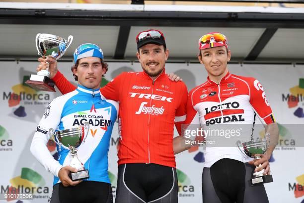 27th Playa de Palma Mallorca Challenge / Trofeo Campos Podium / Sondre Holst ENGER / John DEGENKOLB / Jasper DE BUYST / Celebration / Trophy /...