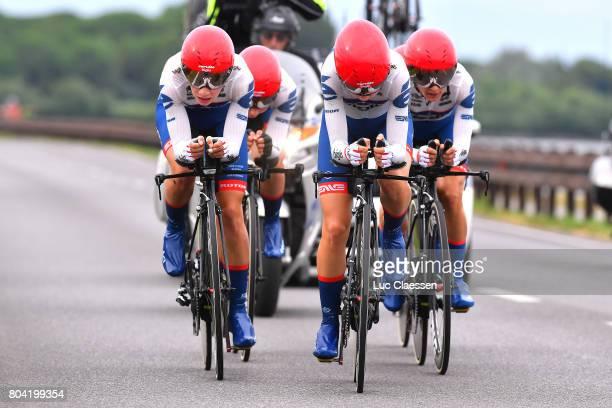 28th Tour of Italy 2017 / Women / Stage 1 Team Cervelo Bigla Pro Cycling Team / Lotta LEPISTO / Ashleigh MOOLMAN / Cecilie Uttrup LUDWIG / Nicole...