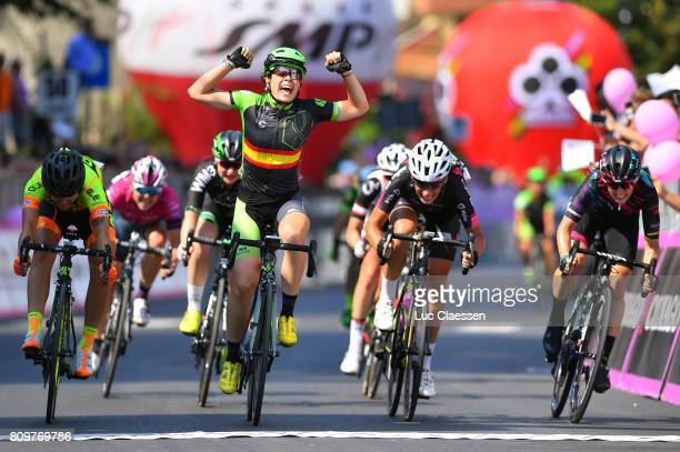 28th Tour of Italy 2017 / Women / Stage 7 Arrival / Sheyla GUTIERREZ Celebration/ Soraya PALADIN / Eugenia BUJAK / Alexis RYAN / Isernia Baronissi...