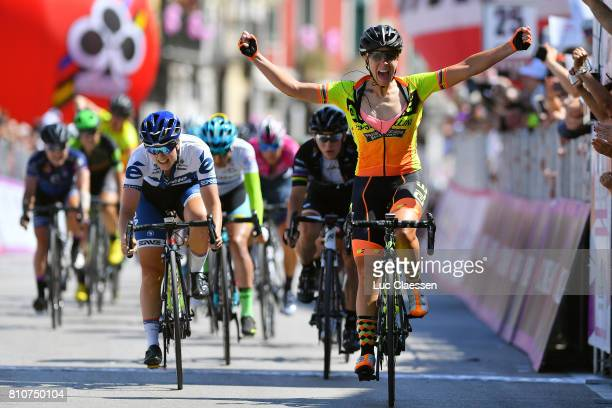 28th Tour of Italy 2017 / Women / Stage 9 Arrival / Marta BASTIANELLI / Celebration / Lotta LEPISTO / Giorgia BRONZINI / Palinuro Polla 444m / Women...