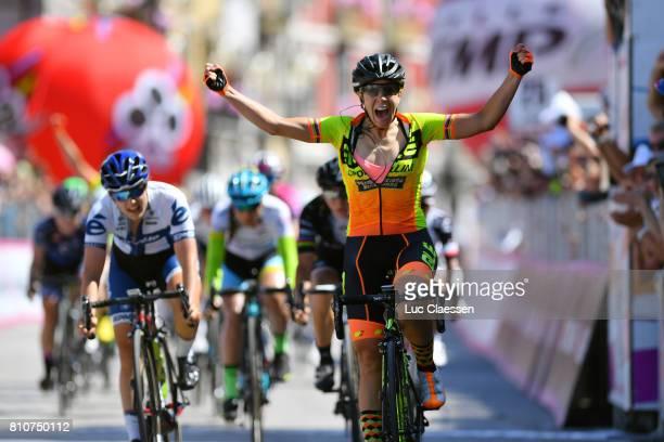 28th Tour of Italy 2017 / Women / Stage 9 Arrival / Marta BASTIANELLI / Celebration / Lotta LEPISTO / Palinuro Polla 444m / Women / Giro Rosa /