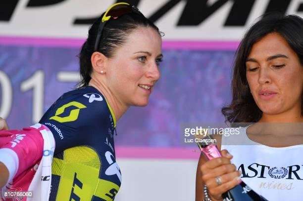 28th Tour of Italy 2017 / Women / Stage 9 Podium /Annemiek VAN VLEUTEN Points jersey Celebration / Palinuro Polla 444m / Women / Giro Rosa /