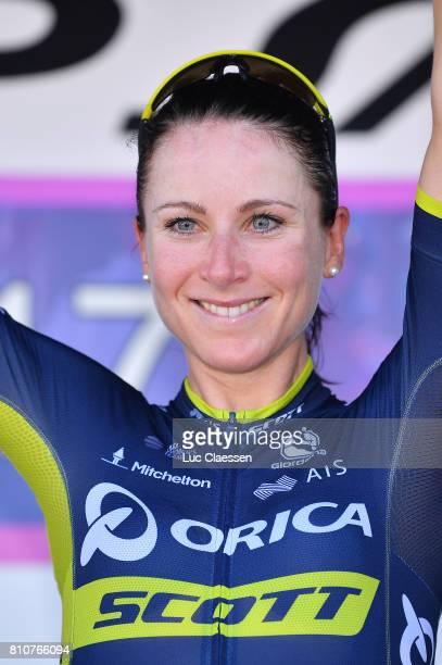 28th Tour of Italy 2017 / Women / Stage 9 Podium /Annemiek VAN VLEUTEN Celebration / Palinuro Polla 444m / Women / Giro Rosa /