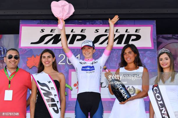 28th Tour of Italy 2017 / Women / Stage 9 Podium / Cecilie Uttrup LUDWIG White young jersey Celebration / Champagne / Palinuro Polla 444m / Women /...