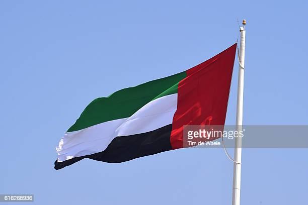 2nd Abu Dhabi Tour 2016 / Stage 3 Illustration / United Arab Emirates Flag/ Al AinQasr Al Muwaiji Jebel Hafeet 1025m / The Strata Stage / Ride To Abu...