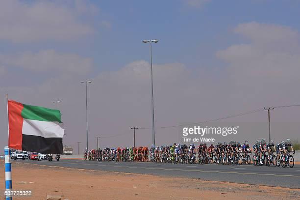 2nd Tour of Dubai 2015 / Stage 3 Illustration Illustratie / Peleton Peloton / UAE Flag Drapeau Vlag / Landscape Paysage Landschap / Dubai...