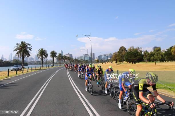 2nd Toward Zero Race Melbourne 2018 / Cadel Evans Albert Park GP/ Men Fabio SABATINI / Enric MAS NICOLAU / Peloton / Albert Park F1 GP Circuit Albert...