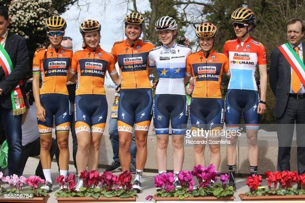 2nd Trofeo Alfredo BindaComune di Cittiglio 2017 / Women Start / Podium / Lizzie Elizabeth ARMITSTEADDEIGNAN / Anna VAN DER BREGGEN / Amy PIETERS /...