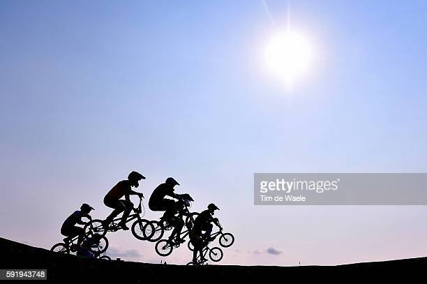 31st Rio 2016 Olympics / BMX Cycling Men Quarterfinals Illustration / Silhouet / Olympic Bmx Centre/ Summer Olympic Games /