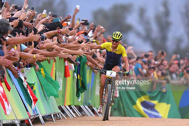 31st Rio 2016 Olympics / Cycling Women's Crosscountry Arrival / Jenny RISSVEDS / Celebration / Fans / Public / Mountain Bike Centre/ Summer Olympic...