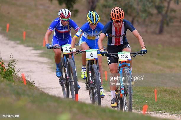 31st Rio 2016 Olympics / Cycling Women's Crosscountry Lea DAVISON / Yana BELOMOINA / Pauline FERRAND PREVOT / Mountain Bike Centre/ Summer Olympic...