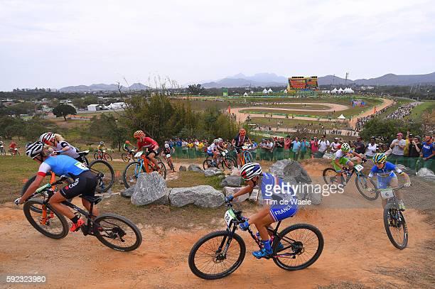 31st Rio 2016 Olympics / Cycling Women's Crosscountry Pauline FERRAND PREVOT / Yana BELOMOINA / Illustration / Mountain Bike Centre/ Summer Olympic...
