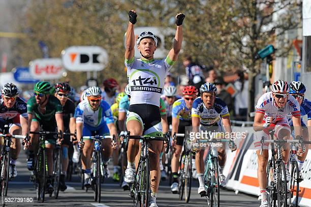 36th 3 Days De Panne 2012 / Stage 2 Arrival / Marcel KITTEL Celebration Joie Vreugde / Alexander KRISTOFF / Boy VAN POPPEL / Zottegem - Koksijde /...