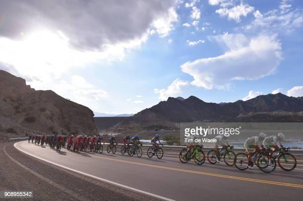 36th Tour of San Juan 2018 / Stage 2 Team Sindicato Empleados Publicos of San Juan / Peloton / Landscape / Mountains / Peri Lago Punta Negra Peri...