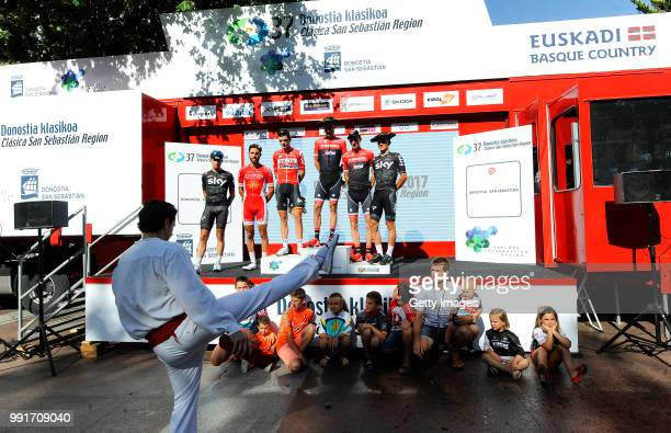 37Th Clasica De San Sebastian 2017Podium / Haimar Zubeldia Last Race Retirement Mikel Landa Meana / Tony Gallopin / Michal Kwiatkowski / Bauke...