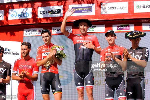 37Th Clasica De San Sebastian 2017Podium / Haimar Zubeldia Last Race Retirement Tony Gallopin / Michal Kwiatkowski / Bauke Mollema / Loic Chetout /...
