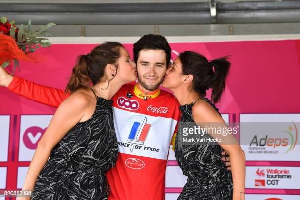 38th Tour Wallonie 2017 / Stage 1 Podium / Benjamin THOMAS Red Best Young Jersey / Celebration / Stavelot Marchin / VOO / TW /