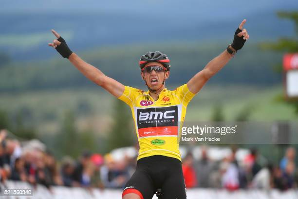 38th Tour Wallonie 2017 / Stage 3 Arrival / Dylan TEUNS Yellow Leader Jersey / Celebration / Arlon - Houffalize / VOO / TW /