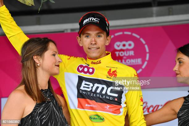 38th Tour Wallonie 2017 / Stage 3 Podium / Dylan TEUNS Yellow Leader Jersey / Celebration / Arlon - Houffalize / VOO / TW /