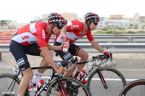 3rd Abu Dhabi Tour 2017 / Stage 2 Adam HANSEN / Sean DE BIE / Abu DhabiAl Maryah Island Abu DhabiBig Flag / Ride to Abu Dhabi / Nation Towers Stage /