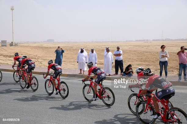 3rd Abu Dhabi Tour 2017 / Stage 2 Alberto CONTADOR VELASCO / Julien BERNARD / Kiel REIJNEN / Abu DhabiAl Maryah Island Abu DhabiBig Flag / Ride to...
